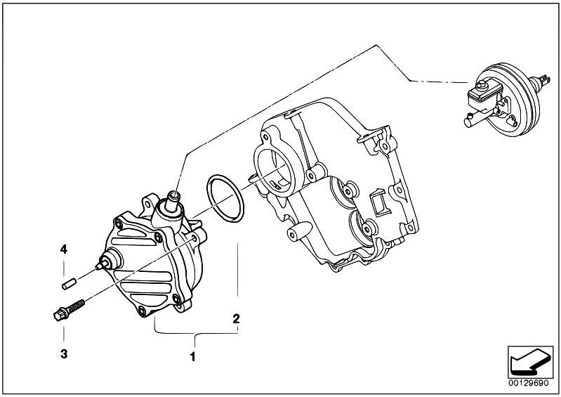 Original Parts for E70 X5 4.8i N62N SAV / Engine/ Vacuum