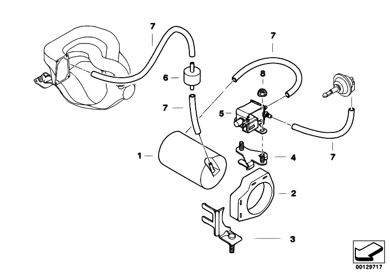 Original Parts for E36 318is M42 Sedan / Engine/ Vacuum