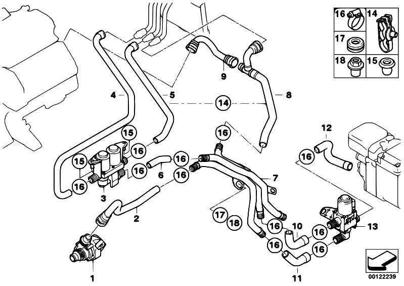 Original Parts for E65 745d M67N Sedan / Heater And Air