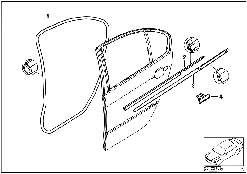 Original Parts for E46 318i N42 Sedan / Bodywork/ Door