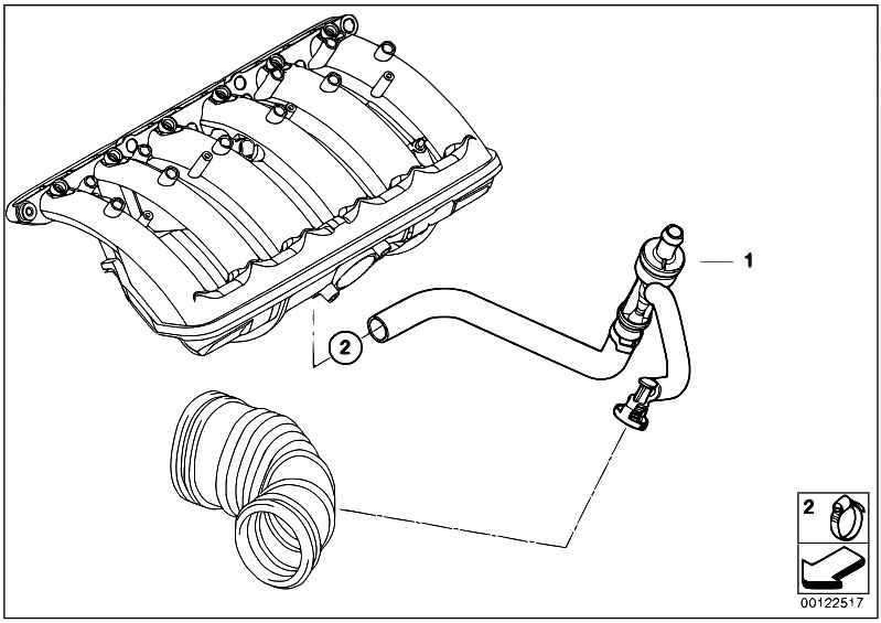 Original Parts for E65 730i M54 Sedan / Engine/ Vacuum