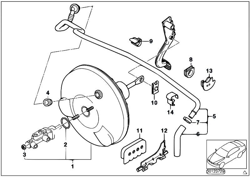 Original Parts for E46 330Cd M57N Cabrio / Brakes/ Power