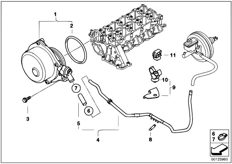 Original Parts for E46 320d M47N Touring / Engine/ Vacuum