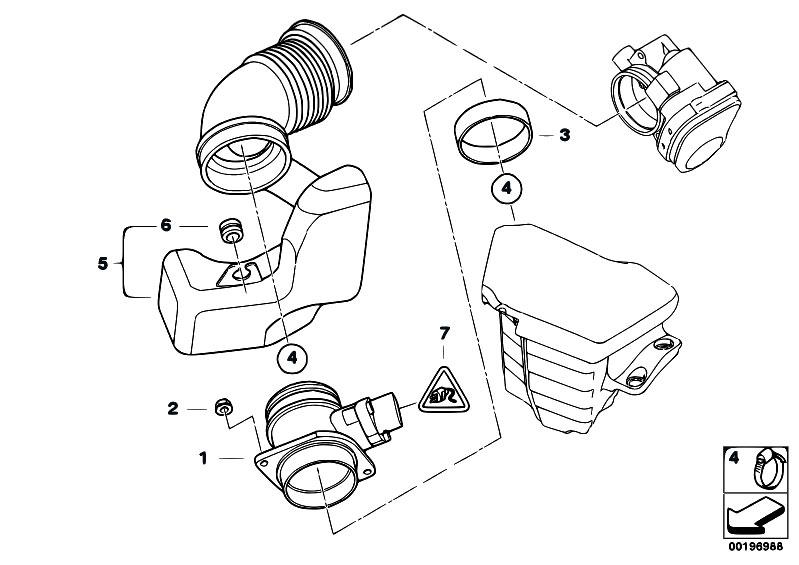 Original Parts for E46 318i N42 Sedan / Fuel Preparation