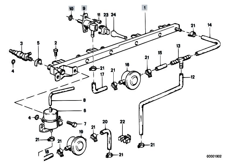 bmw e30 fuel system diagram