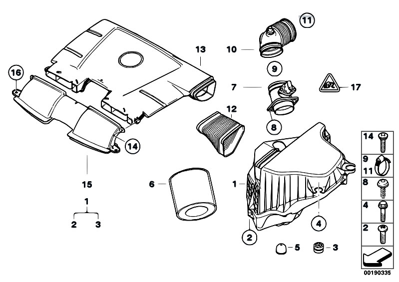 Original Parts for E90 318i N46N Sedan / Fuel Preparation