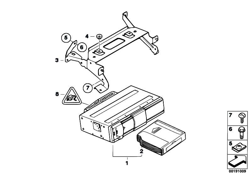 Original Parts for E90 330i N52N Sedan / Audio Navigation