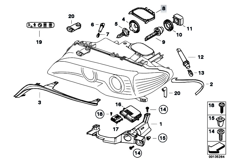 Original Parts for E46 320Cd M47N Coupe / Lighting/ Single