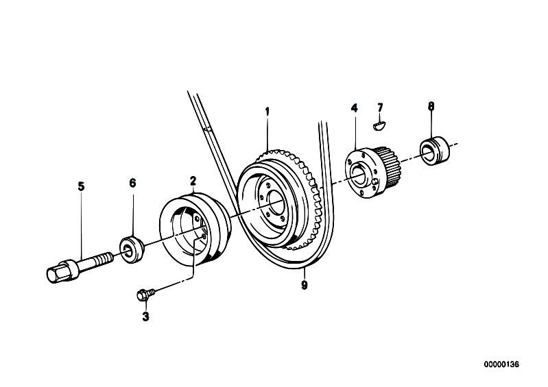 Original Parts for E30 318i M40 4 doors / Engine/ Belt