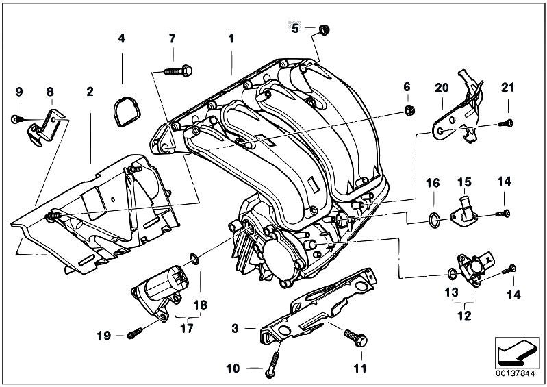 Original Parts for E90 320i N46 Sedan / Engine/ Intake