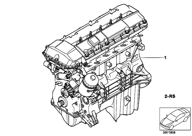 Original Parts for E60 530i M54 Sedan / Engine/ Short