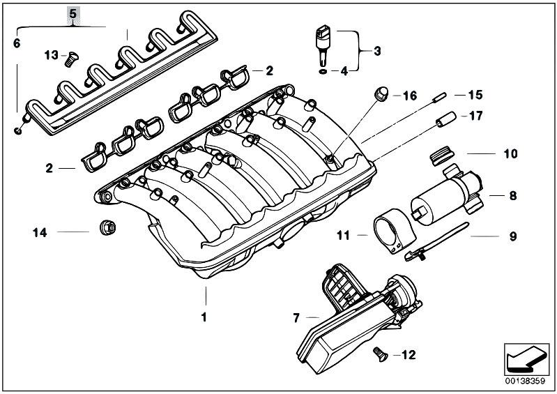 Original Parts for E46 325i M54 Touring / Engine/ Intake