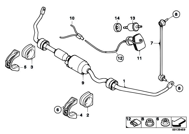 Original Parts for E65 730d M57N2 Sedan / Front Axle
