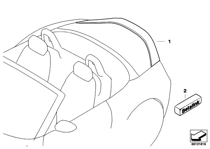 Original Parts for E85 Z4 3.0i M54 Roadster / Vehicle Trim
