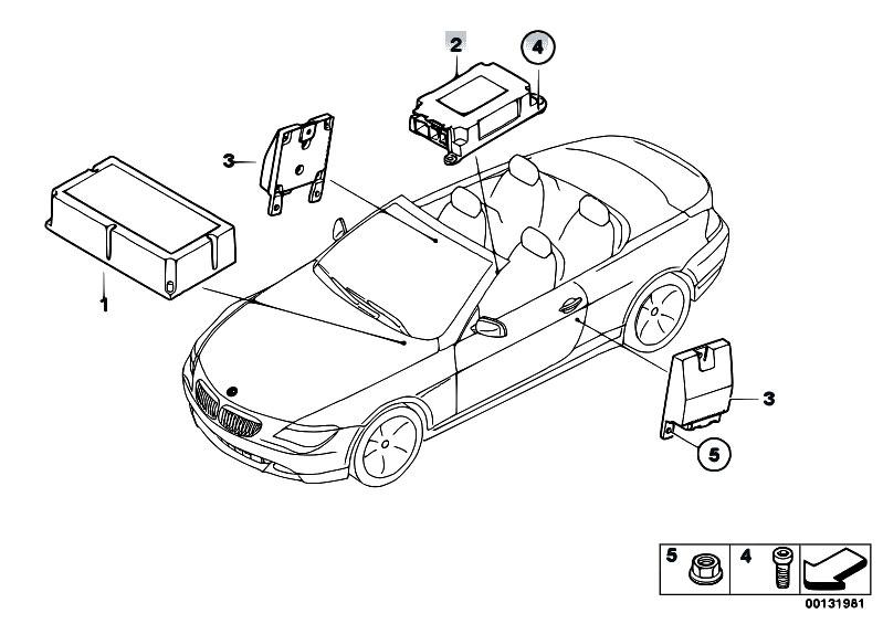 Original Parts for E64 645Ci N62 Cabrio / Audio Navigation