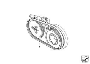 Original Parts for E91 320d M47N2 Touring  Engine Belt