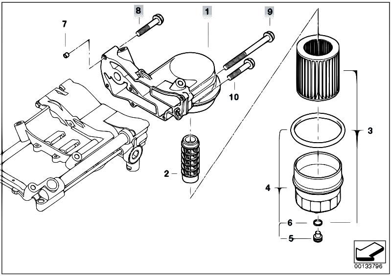 Original Parts for E60 545i N62 Sedan / Engine