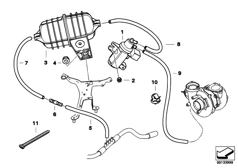 Original Parts for E60 530d M57N Sedan / Engine/ Vacum