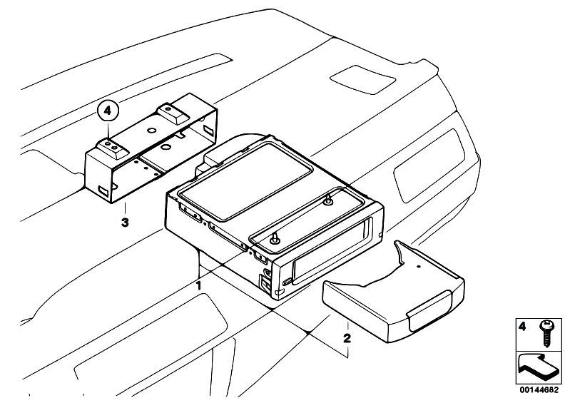 Original Parts for E60 530d M57N Sedan / Audio Navigation