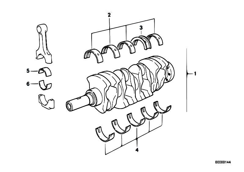 Original Parts for E36 316i M40 Sedan / Engine/ Crankshaft
