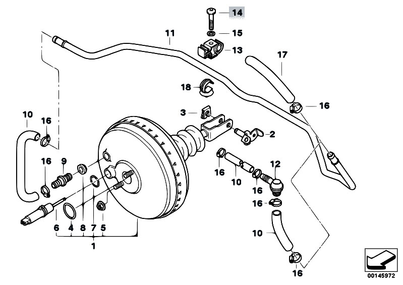 Original Parts for E36 318i M40 Sedan / Brakes/ Power