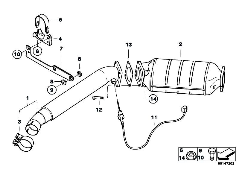 Original Parts for E83 X3 3.0d M57N2 SAV / Exhaust System