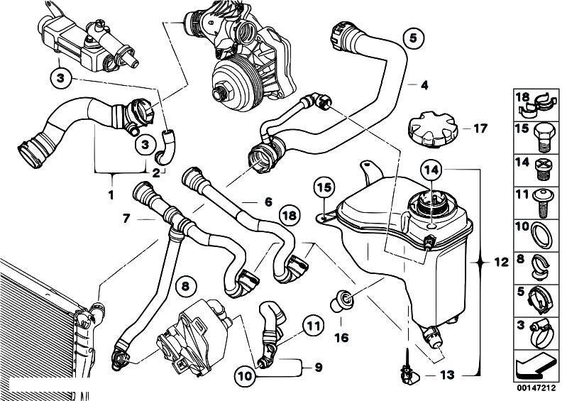 Bmw E60 Radiator Diagram. Bmw. Auto Parts Catalog And Diagram