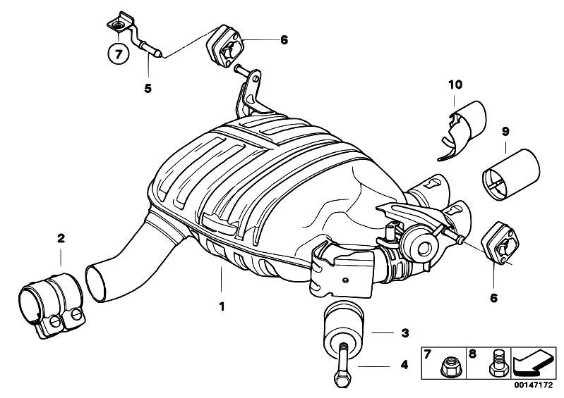 Original Parts for E87 130i N52 5 doors / Exhaust System