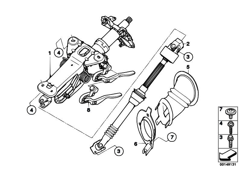 Original Parts for E60 520d M47N2 Sedan / Steering