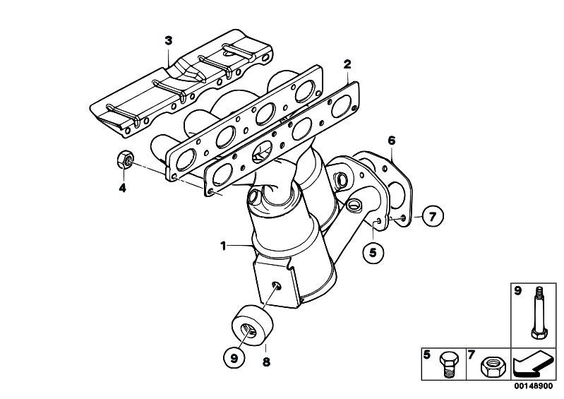 Original Parts for E87 120i N46 5 doors / Exhaust System
