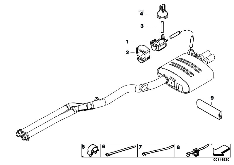 Original Parts for E61 535d M57N Touring / Exhaust System
