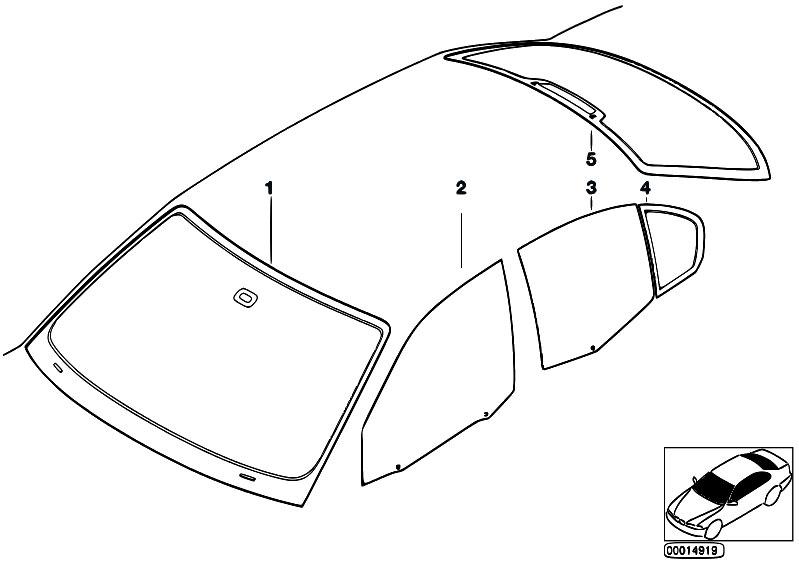 Original Parts for E46 318i N42 Sedan / Vehicle Trim