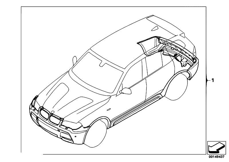 Original Parts for E83N X3 3.0sd M57N2 SAV / Vehicle Trim