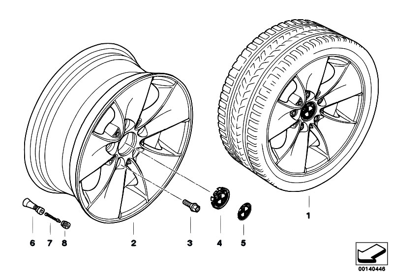 Original Parts for E91 320d M47N2 Touring / Wheels/ Bmw