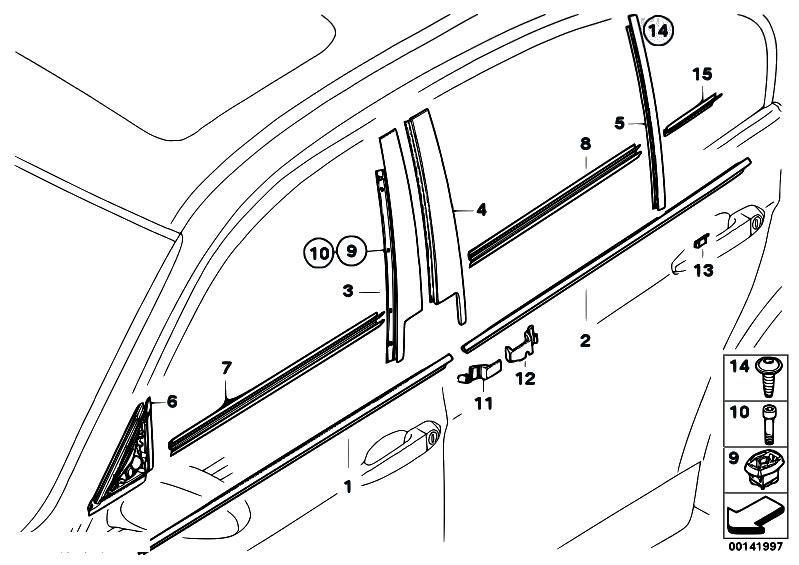 Original Parts for E90N 320i N43 Sedan / Vehicle Trim