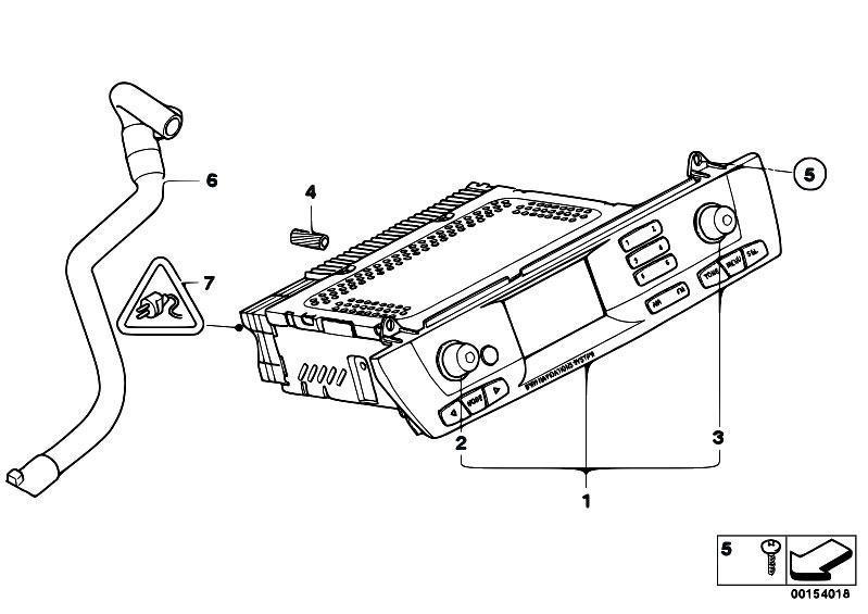 Original Parts for E85 Z4 2.5i M54 Roadster / Audio