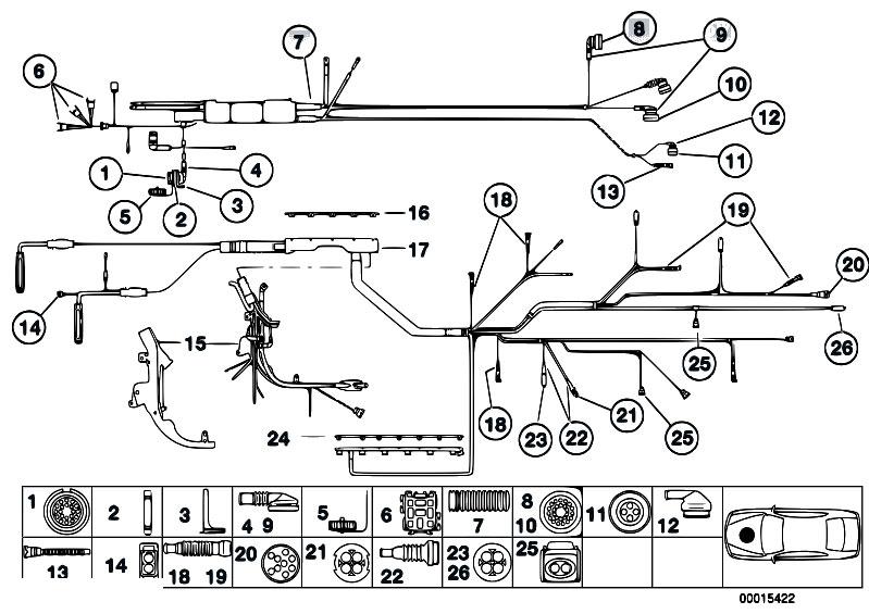 Original Parts for Z3 Z3 2.8 M52 Roadster / Engine