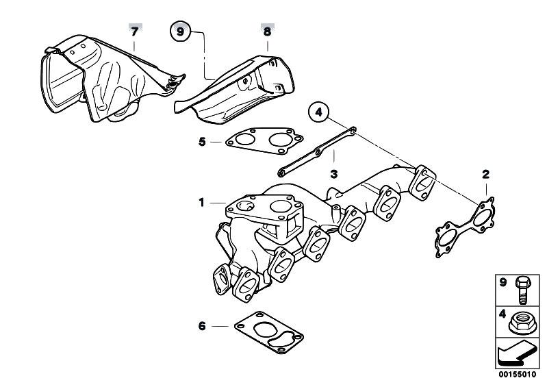 Original Parts for E90N 335d M57N2 Sedan / Engine/ Exhaust