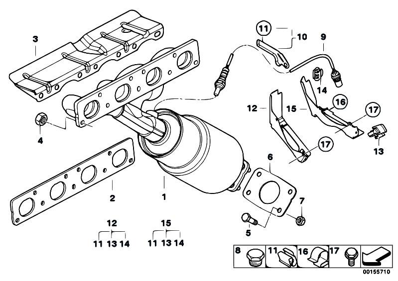 Original Parts for E87 116i N45 5 doors / Exhaust System