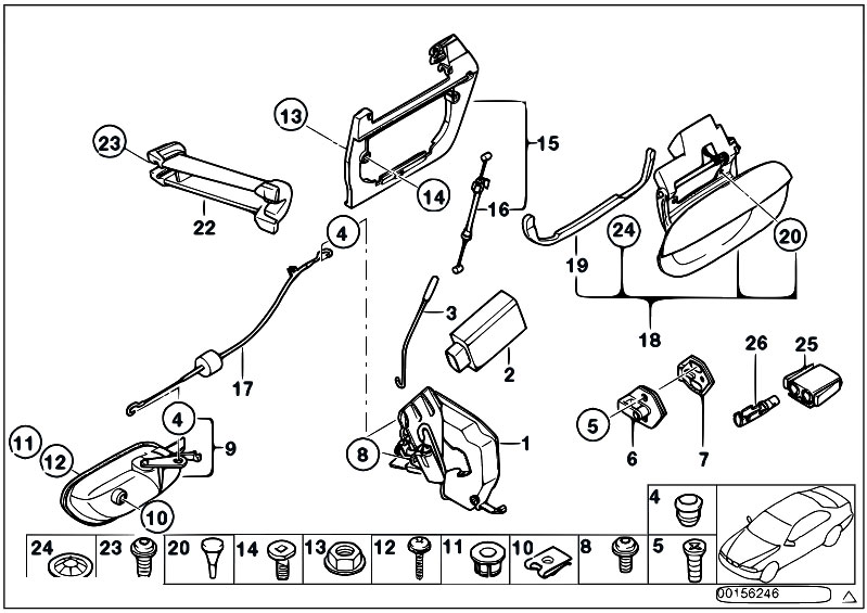 bmw e46 touring tailgate wiring diagram 2004 pontiac vibe stereo original parts for e39 520d m47 / bodywork/ rear door control lock - estore-central.com