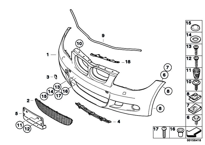Original Parts for E87 130i N52 5 doors / Vehicle Trim/ M