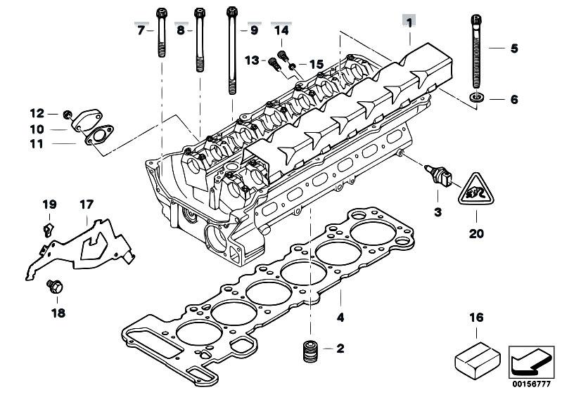 Original Parts for E46 320i M52 Sedan / Engine/ Cylinder