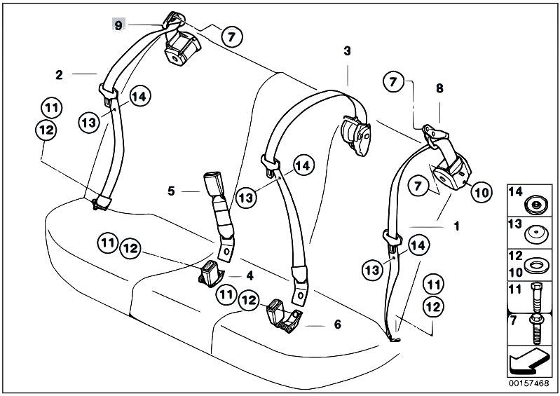 Original Parts for E39 530d M57 Touring / Restraint System