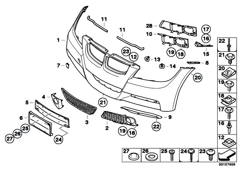 Original Parts for E90 320d M47N2 Sedan / Vehicle Trim/ M