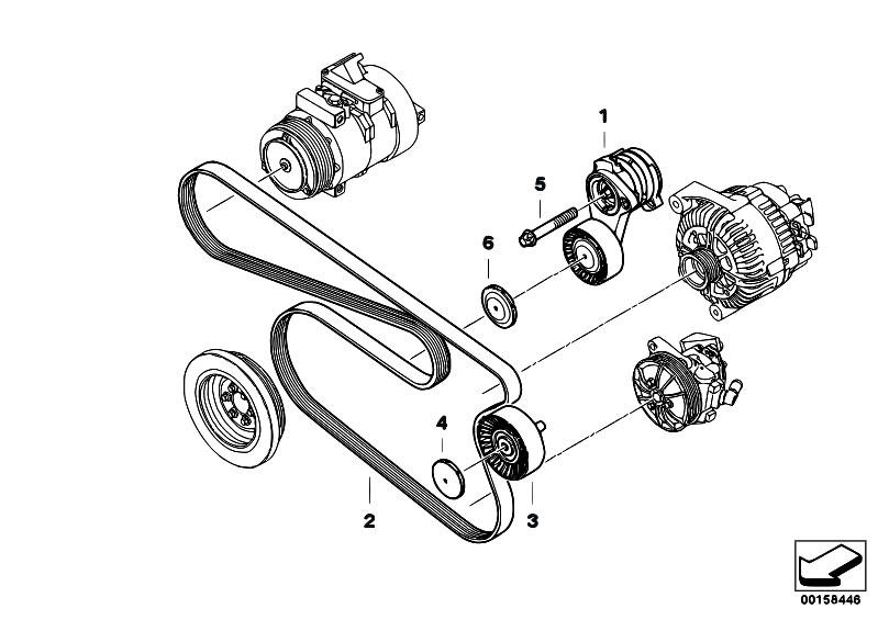 Original Parts for E92 325i N52N Coupe / Engine/ Belt