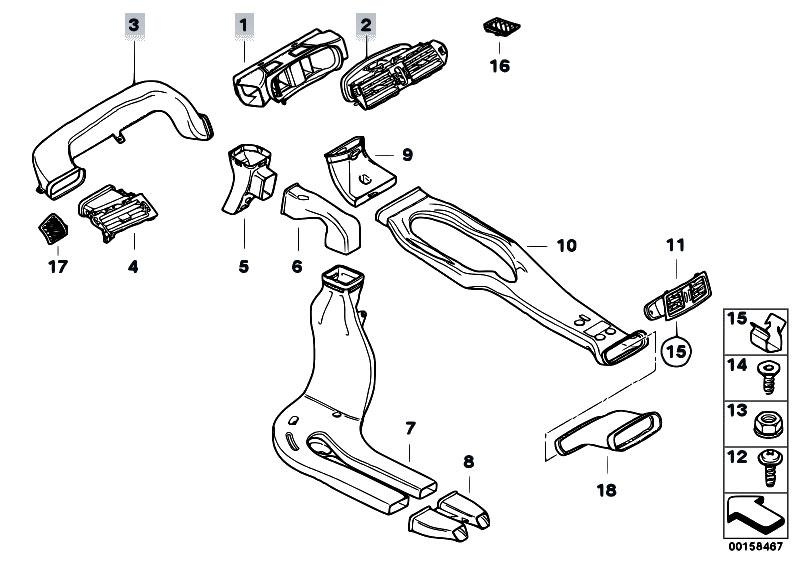 Original Parts for E60 530d M57N Sedan / Heater And Air
