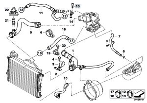 Original Parts for E38 750iLP M73N Sedan  Engine Cooling