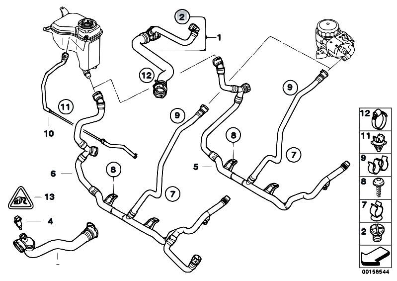 Original Parts for E90 318i N46 Sedan / Radiator/ Cooling