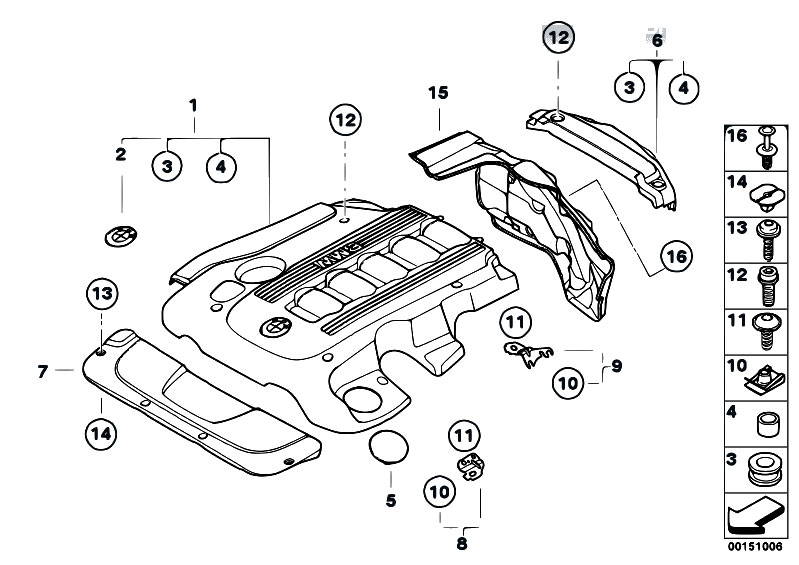 Original Parts for E65 730d M57N Sedan / Engine/ Engine