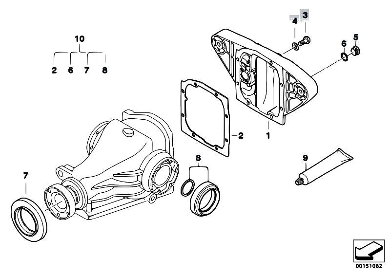 Original Parts for E39 525d M57 Touring / Rear Axle/ Final